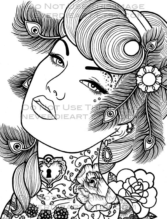 Coloriages zen pour adultes page 2 for Tattoos for older adults